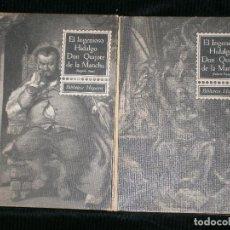 Libros antiguos: F1 EL INGENIOSO HIDALGO DON QUIJOTE DE LA MANCHA TOMO I Y II BIBLIOTECA HISPANIA 1963. Lote 124078327