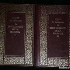 Libros antiguos: F1 DON QUIJOTE DE LA MANCHA MIGUEL DE CERVANTES TOMO I Y II AÑO 1990 EDITORIAL PLANETA . Lote 124099039