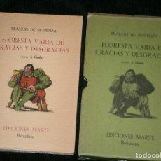 Libros antiguos: F1 FLORESTA VARIA DE GRACIAS Y DESGRACIAS BRAULIO DE ZIGUENZA. Lote 124125071