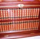 Libros antiguos: EL INGENIOSO HIDALGO DON QUIJOTE DE LA MANCHA- COLECCION TOMOS MINI CON VITRINA. Lote 124435347