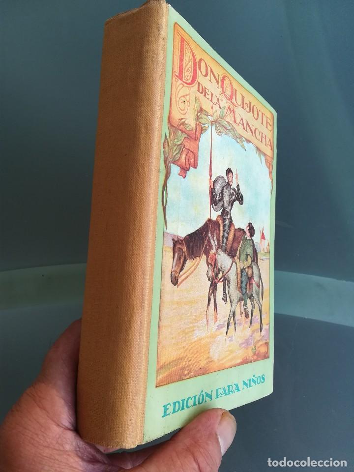 Libros antiguos: DON QUIJOTE DE LA MANCHA-EDICION PARA NIÑOS-DALMAU CARLES, PLA 1ª EDICION SIN FECHA-MAGNIFICO 1925 ? - Foto 3 - 124694403