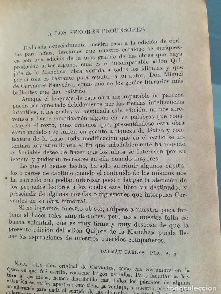 Libros antiguos: DON QUIJOTE DE LA MANCHA-EDICION PARA NIÑOS-DALMAU CARLES, PLA 1ª EDICION SIN FECHA-MAGNIFICO 1925 ? - Foto 16 - 124694403