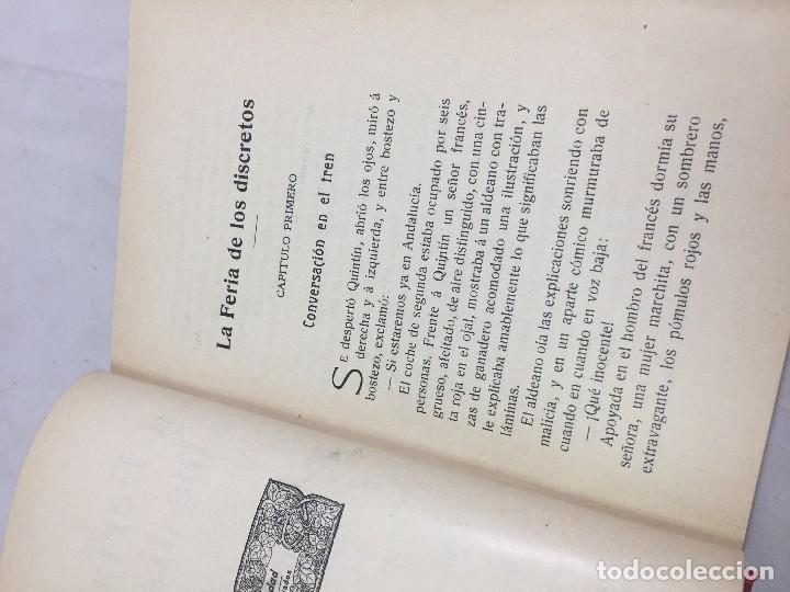 Libros antiguos: La feria de los Discretos Pío Baroja Generación 98 1905 Francisco Beltrán 1ª edición. - Foto 2 - 125669663