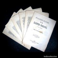 Libros antiguos: AÑO 1885 CERVANTES ORIGINAL DE IMPRENTA SIN ENCUADERNAR LA ILUSTRE FREGONA NOVELAS EJEMPLARES. Lote 125821703