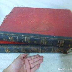 Old books - Tomos 1 y 2 de libro don quijote de la mancha, orginales de 1859 de Barcelona. Con grabados. - 126019863