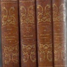 Libros antiguos: JUAN JACOBO BARTHELEMY. VIAJE DE ANACARSIS A LA GRECIA. 11 TOMOS EN 4 VOLÚMENES. MADRID, 1847. Lote 126159023