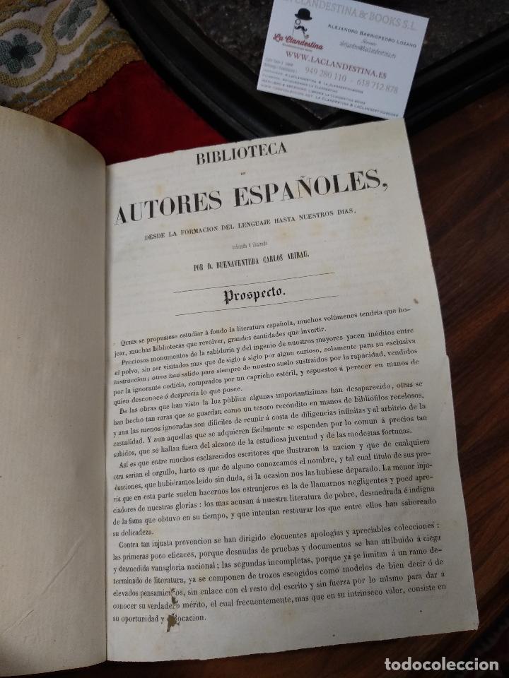 Libros antiguos: BIBLIOTECA DE AUTORES ESPAÑOLES - DESDE LA FORMACIÓN DEL LENGUAJE HASTA NUESTROS DÍAS - 1846 - - Foto 23 - 126165459
