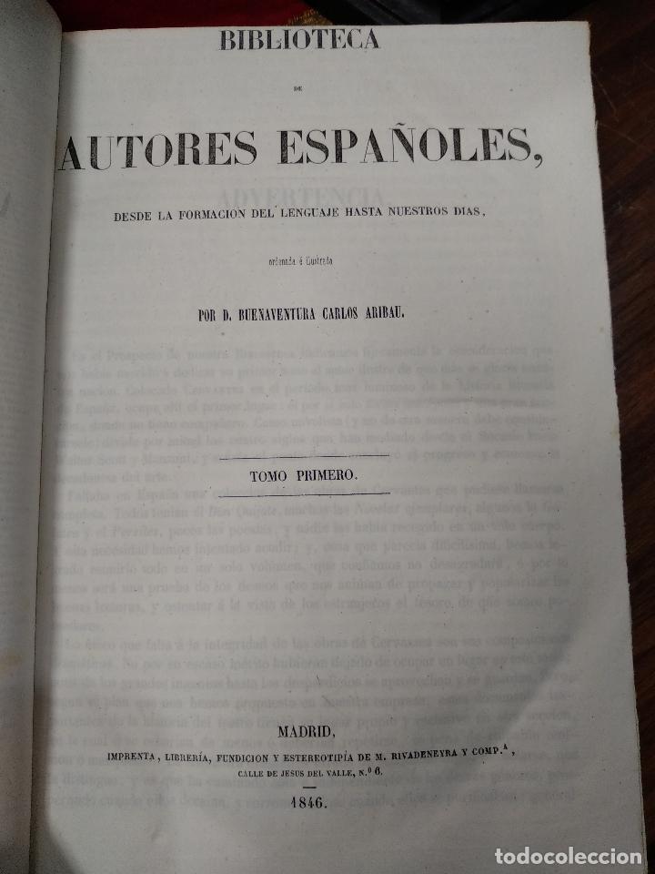 Libros antiguos: BIBLIOTECA DE AUTORES ESPAÑOLES - DESDE LA FORMACIÓN DEL LENGUAJE HASTA NUESTROS DÍAS - 1846 - - Foto 25 - 126165459