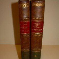 Libros antiguos: DOS TOMOS DE PIEL....POEMAS EROTICOS DE OVIDIO...AÑO. 1917. Lote 126199607
