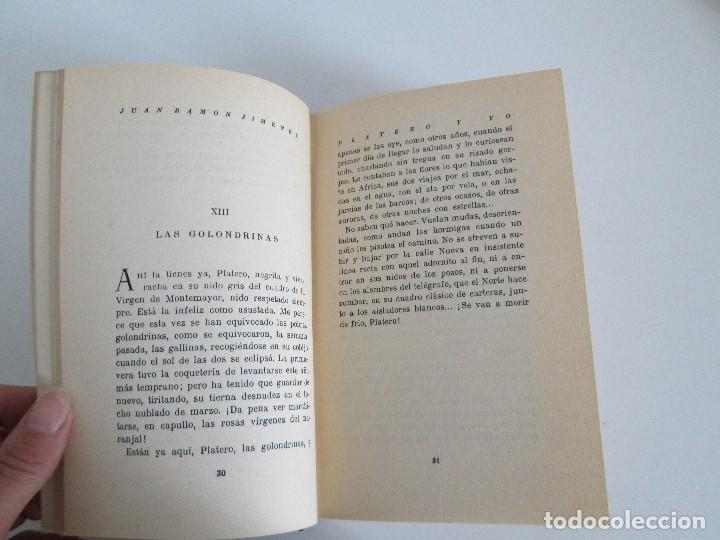 Libros antiguos: JUAN RAMON JIMENEZ. PLATERO Y YO. ESTE LIBRO PERTENECIO AL MINISTRO GREGORIO LOPEZ BRAVO. - Foto 10 - 126219519