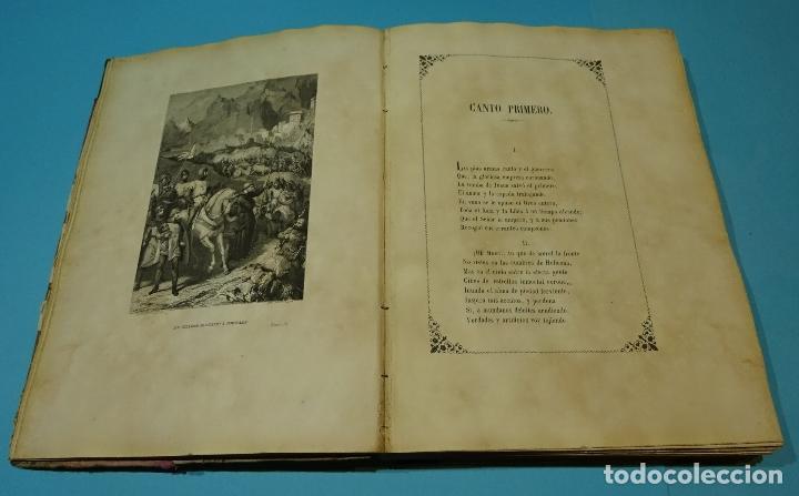 Libros antiguos: LA JERUSALEM LIBERTADA DE TORCUATO TASSO. PUESTA EN VERSO POR TTE.GRAL. MARQUÉS DE LA PEZUELA. 1855 - Foto 4 - 126888943