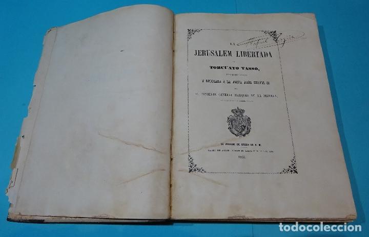Libros antiguos: LA JERUSALEM LIBERTADA DE TORCUATO TASSO. PUESTA EN VERSO POR TTE.GRAL. MARQUÉS DE LA PEZUELA. 1855 - Foto 22 - 126888943