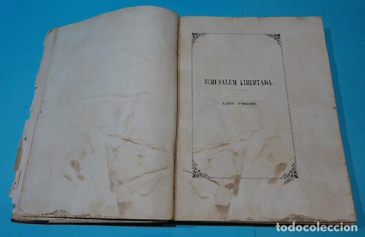 Libros antiguos: LA JERUSALEM LIBERTADA DE TORCUATO TASSO. PUESTA EN VERSO POR TTE.GRAL. MARQUÉS DE LA PEZUELA. 1855 - Foto 30 - 126888943