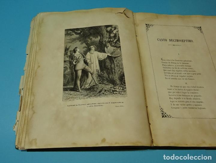 Libros antiguos: LA JERUSALEM LIBERTADA DE TORCUATO TASSO. PUESTA EN VERSO POR TTE.GRAL. MARQUÉS DE LA PEZUELA. 1855 - Foto 33 - 126888943