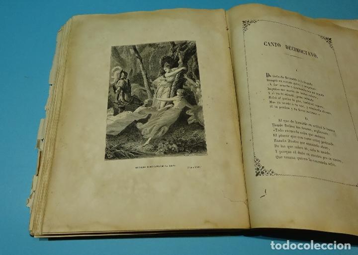 Libros antiguos: LA JERUSALEM LIBERTADA DE TORCUATO TASSO. PUESTA EN VERSO POR TTE.GRAL. MARQUÉS DE LA PEZUELA. 1855 - Foto 34 - 126888943
