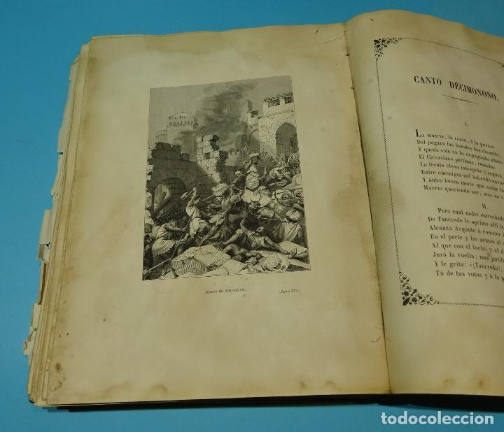 Libros antiguos: LA JERUSALEM LIBERTADA DE TORCUATO TASSO. PUESTA EN VERSO POR TTE.GRAL. MARQUÉS DE LA PEZUELA. 1855 - Foto 35 - 126888943