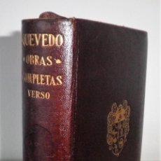 Libri antichi: OBRAS COMPLETAS DE QUEVEDO - AGUILAR AÑO 1943 - LUJOSA EDICION EN PIEL.. Lote 127161847