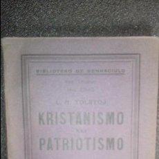 Libros antiguos: TOLSTOI. CLÁSICOS EN ESPERANTO. ESPERANTO. LENGUA UNIVERSAL. LITERATURA ESPERANTISTA.. Lote 127485983