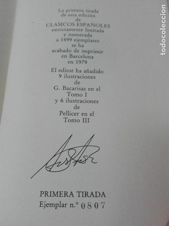 Libros antiguos: Coleccion de clasicos castellanos edicion limitada y numerada de 1499 ejemplares muy buen estado - Foto 16 - 127791803