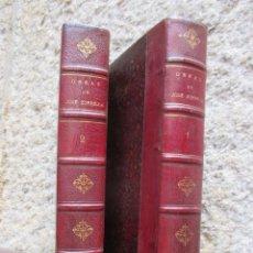 Libros antiguos: OBRAS DE D. JOSE ZORRILLA - POETICAS Y DRAMATICAS - 2 TOMOS, PARIS 1893, BELLA ENCUADERNACION + INFO. Lote 128184799