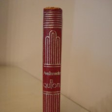 Libros antiguos: AVELLANEDA. EL QUIJOTE. AGUILAR. CRISOL 28.. Lote 128222423