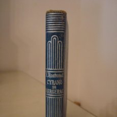 Libros antiguos: EDMOND ROSTAND. CYRANO DE BERGERAC. AGUILAR. CRISOL 295.. Lote 128392071