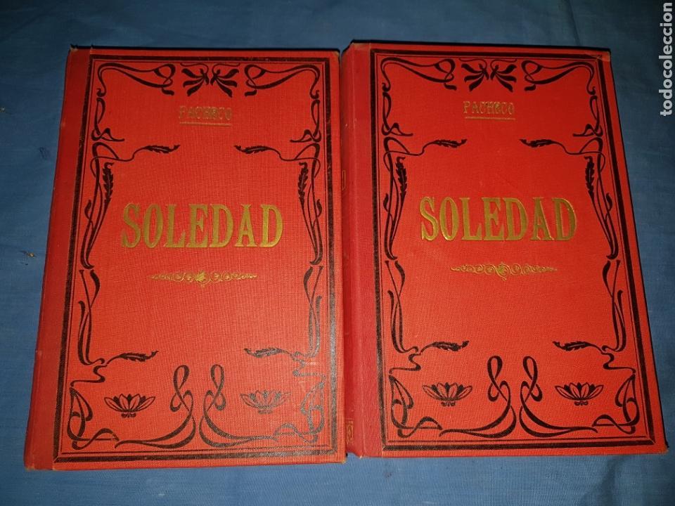 NOVELA SOLEDAD 2 TOMOS 1880 PACHECO (Libros antiguos (hasta 1936), raros y curiosos - Literatura - Narrativa - Clásicos)