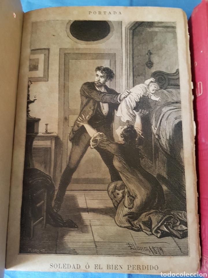 Libros antiguos: Novela Soledad 2 tomos 1880 Pacheco - Foto 2 - 129518007