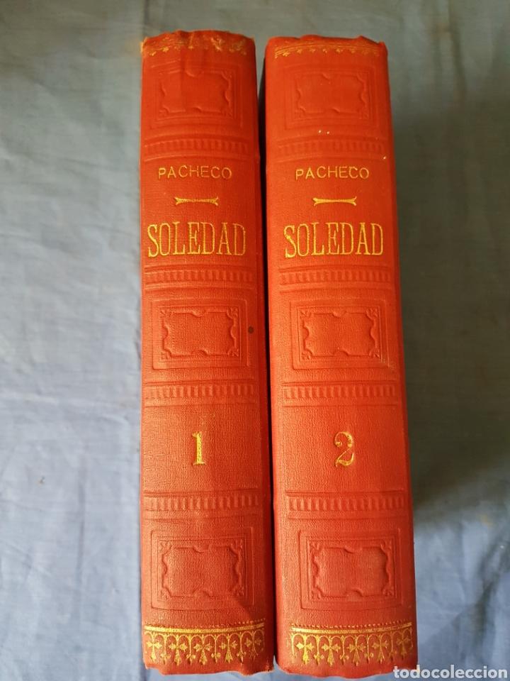 Libros antiguos: Novela Soledad 2 tomos 1880 Pacheco - Foto 7 - 129518007