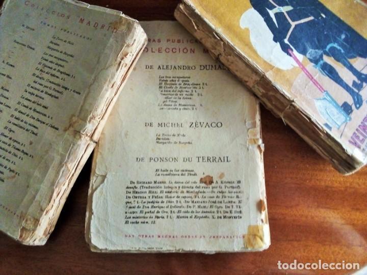 Libros antiguos: Alejandro Dumas: 3 novelas año 1.919 Colección MADRID (Saturnino Calleja) - Foto 2 - 129973219
