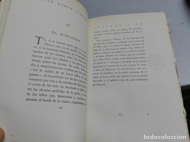 Libros antiguos: PLATERO Y YO (ELEGÍA ANDALUZA) / JUAN RAMÓN JIMÉNEZ / MADRID 1934 - Foto 2 - 130160959