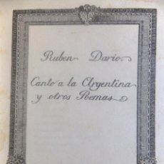 Libros antiguos: RUBÉN DARÍO CANTO A ANGÉLICA Y OTROS POEMAS. MADRID 1914. Lote 130877572