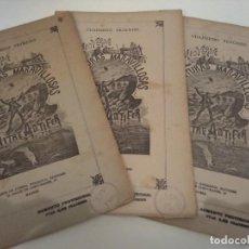 Libros antiguos: MARAVILLOSAS AVENTURAS DE ANTIFER JULIO VERNE SAENZ DE JUBERA EDITORES GRABADOS COMPLETO 3 CUADERNOS. Lote 131013624