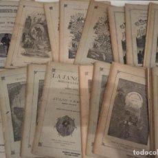 Libros antiguos: LOTE OBRAS JULIO VERNE SAENZ JUBERA EDITORES CON GRABADOS 7 OBRAS COMPLETAS. Lote 131014288