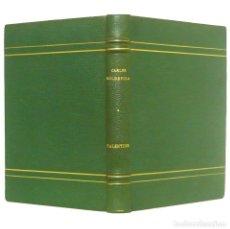 Libros antiguos: 1933 - 1ª ED. - CARLES SOLDEVILA: VALENTINA. NOVEL.LA - ENCUADERNACIÓN DE LUJO FIRMADA ARGOS - PIEL . Lote 131099012