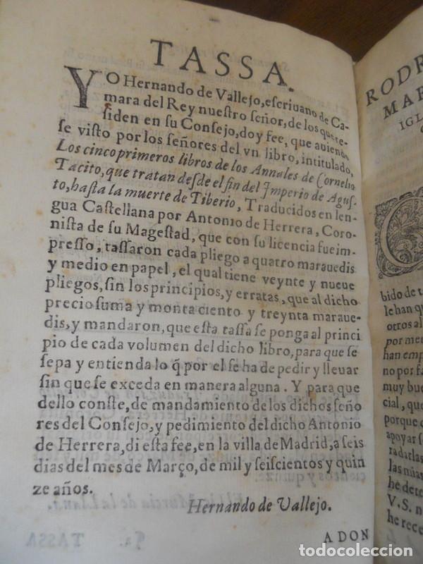 Libros antiguos: LOS CINCO PRIMEROS LIBROS DE LOS ANNALES DE TÁCITO. JUAN DE LA CUESTA, 1615. IMPRENTA QUIJOTE - Foto 4 - 131113192