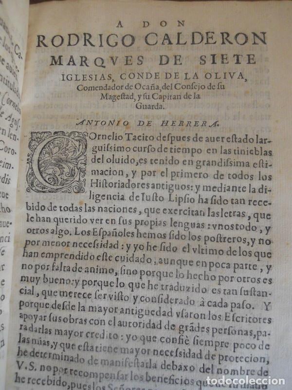 Libros antiguos: LOS CINCO PRIMEROS LIBROS DE LOS ANNALES DE TÁCITO. JUAN DE LA CUESTA, 1615. IMPRENTA QUIJOTE - Foto 5 - 131113192