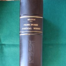 Libros antiguos: THE PROSE WORKS OF JOHN MILTON. BY ROBERT FLETCHER.LONDON 1847. Lote 131239623