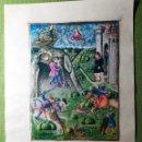 Libros antiguos: LAMINA FACSIMIL DE LA ENEIDA DE VIRGILIO V3. Lote 131589722