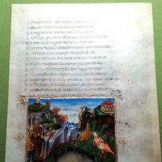Libros antiguos: LAMINA FACSIMIL DE LA ENEIDA DE VIRGILIO V6. Lote 131590070
