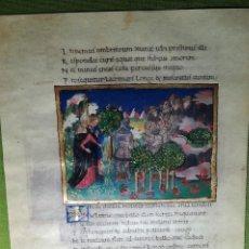 Libros antiguos: LAMINA FACSIMIL DE LA ENEIDA DE VIRGILIO V7. Lote 131590126