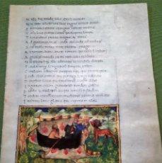 Libros antiguos: CUADERNILLO (4 FOLIOS, 8 PÁGINAS) FACSIMIL DE LA ENEIDA DE VIRGILIO V10. Lote 131590298