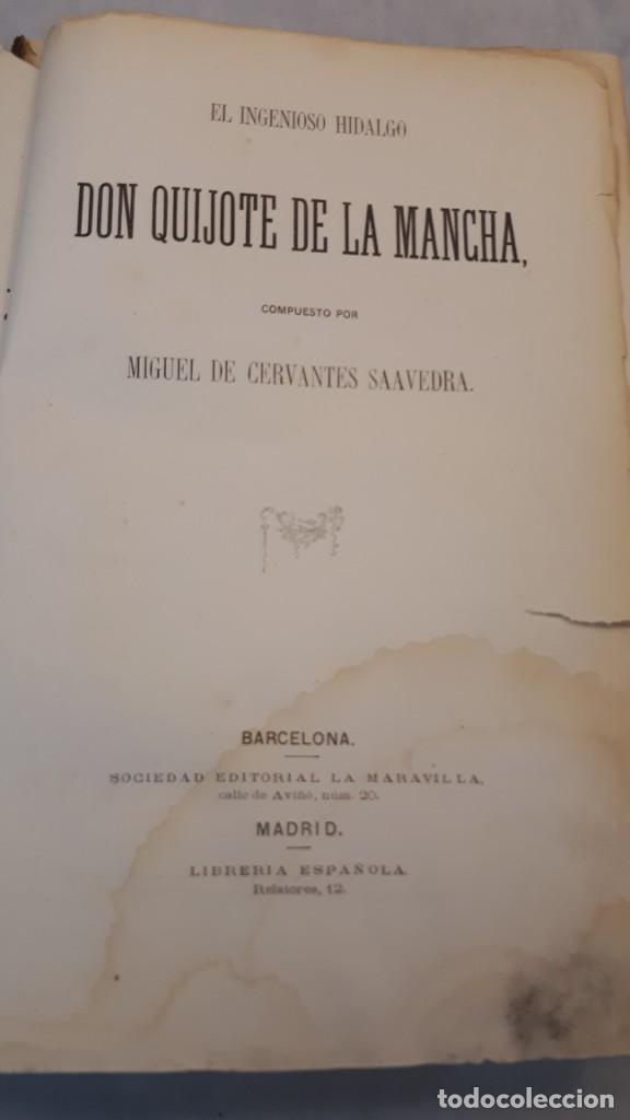 Libros antiguos: El Quijote. Edición 1863. - Foto 6 - 131787754