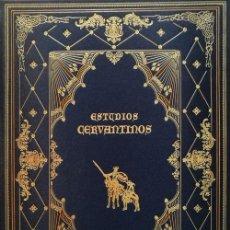 Libros antiguos: CERVANTES ESTUDIOS CERVANTINOS EDICIÓN BIBLIÓFILA EN PAPEL DE HILO ILUSTRADA GUILLERMO BLAZQUEZ 2003. Lote 131859858
