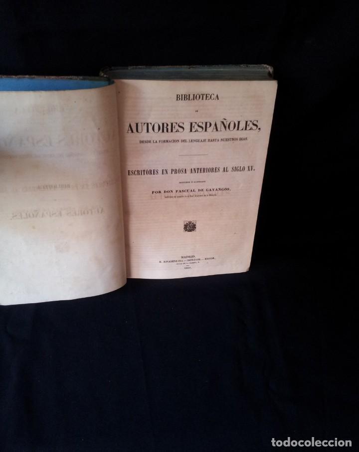 BIBLIOTECA DE AUTORES ESPAÑOLES, ESCRITORES EN PROSA ANTERIORES AL SIGLO XV - TOMO 51 - 1860 (Libros antiguos (hasta 1936), raros y curiosos - Literatura - Narrativa - Clásicos)