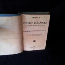 Libros antiguos: BIBLIOTECA DE AUTORES ESPAÑOLES, ESCRITORES EN PROSA ANTERIORES AL SIGLO XV - TOMO 51 - 1860. Lote 132013614