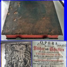 Libros antiguos: AÑO 1756: OBRAS DE SANTA TERESA DE JESÚS. LIBRO DEL SIGLO XVIII CON CIERRE METÁLICO. 21,50 CM.. Lote 132083394