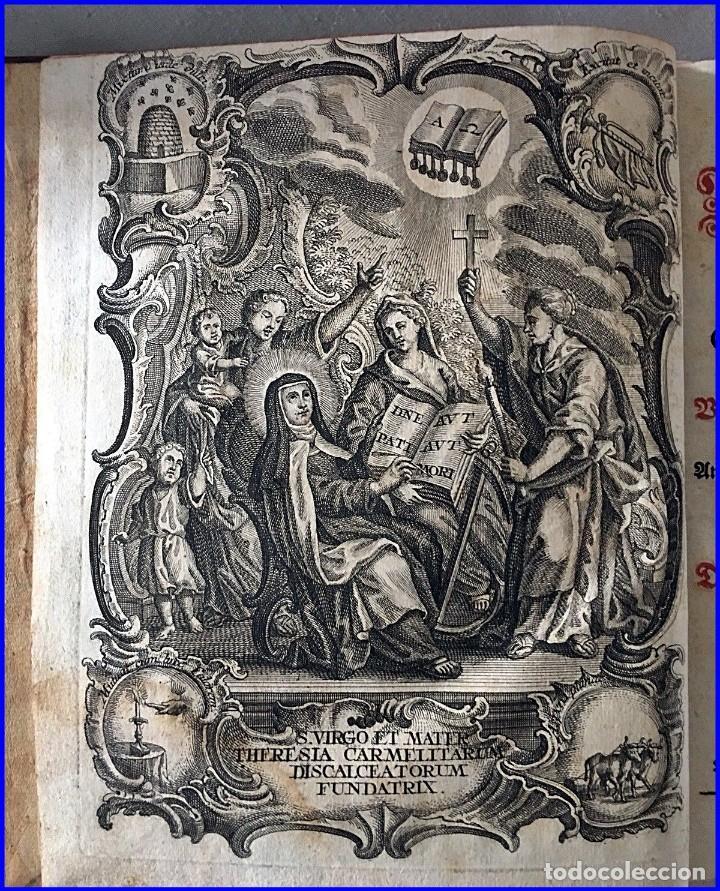 Libros antiguos: AÑO 1756: OBRAS DE SANTA TERESA DE JESÚS. LIBRO DEL SIGLO XVIII CON CIERRE METÁLICO. 21,50 CM. - Foto 2 - 132083394