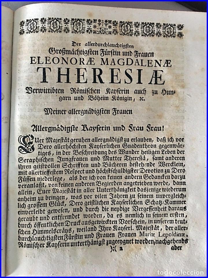 Libros antiguos: AÑO 1756: OBRAS DE SANTA TERESA DE JESÚS. LIBRO DEL SIGLO XVIII CON CIERRE METÁLICO. 21,50 CM. - Foto 3 - 132083394