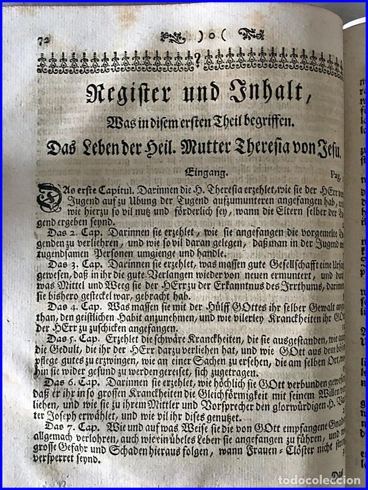 Libros antiguos: AÑO 1756: OBRAS DE SANTA TERESA DE JESÚS. LIBRO DEL SIGLO XVIII CON CIERRE METÁLICO. 21,50 CM. - Foto 4 - 132083394